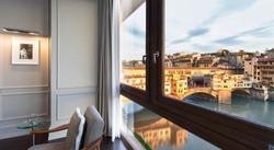 breakfast view on Ponte Vecchio