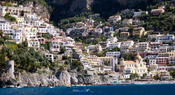 at the highest point of Positano