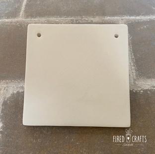 Square Tile Ornament - £8