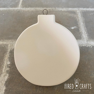 Flat Bauble Ornament - £8