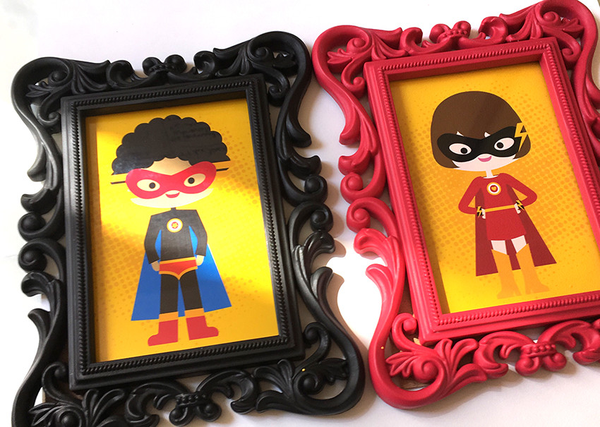 Quadrinhos para Toalete Menino e Menina