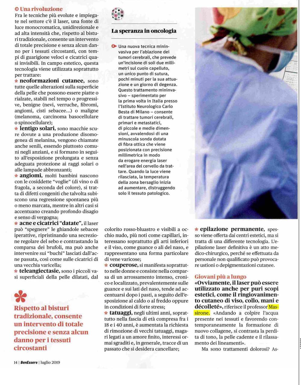"""""""Benessere"""" intervista Prof. Alberto Massirone"""