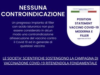 VACCINO COVID-19 MODERNA & FILLER: NESSUNA CONTROINDICAZIONE SE SI ADOTTANO PRATICHE PRUDENZIALI