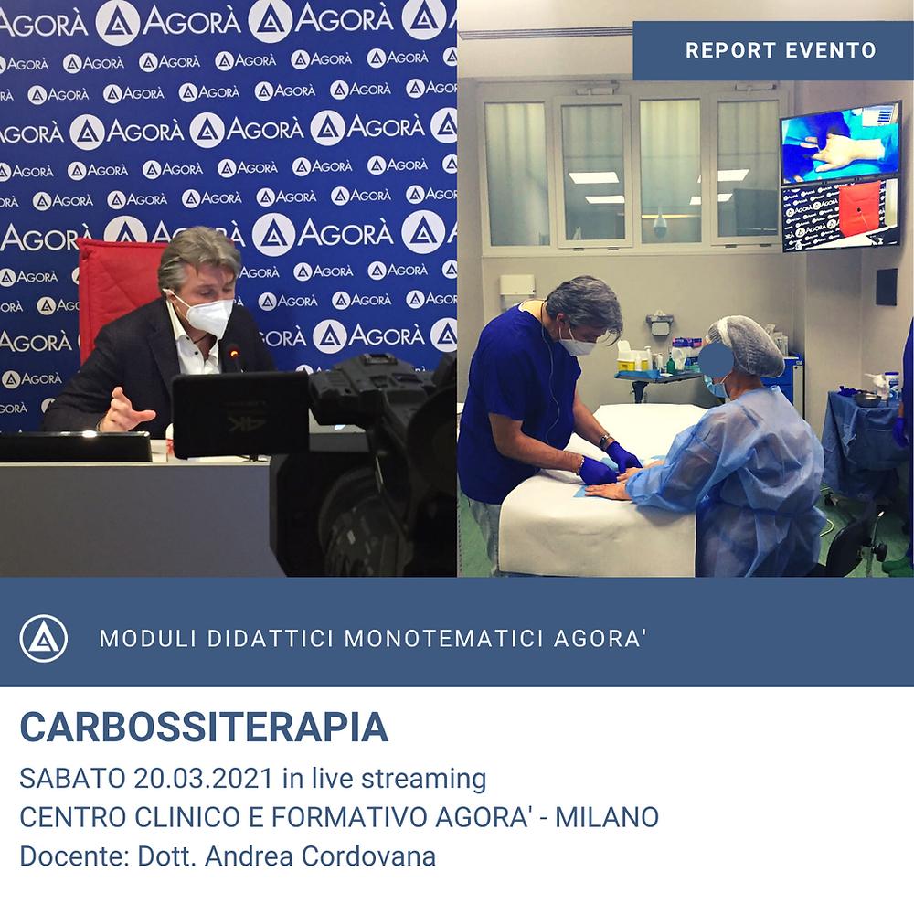 CORSO ECM CARBOSSITERAPIA - RECAP CORSO 20.03.2021