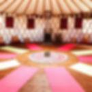 Inside Yoga Yurt
