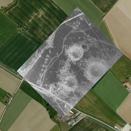 a cratered landscape