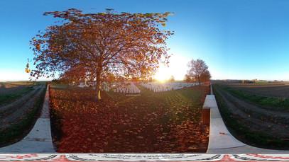 view from New Irish Farm Cemetery
