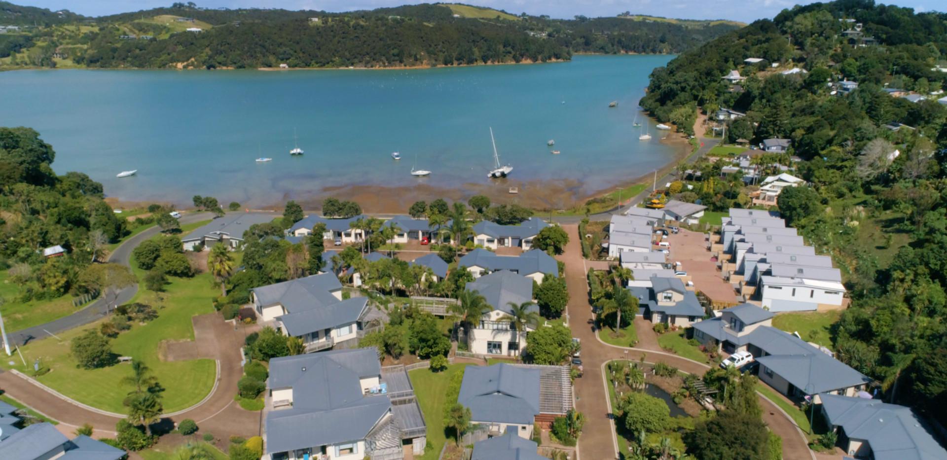 Aerial Shot Waiheke Retirement Village