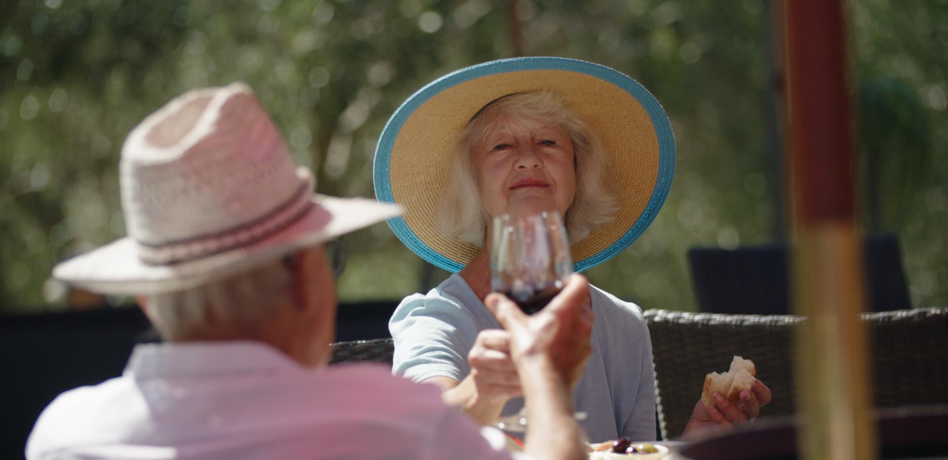 Vineyard Glass of wine Waiheke Retirement Village