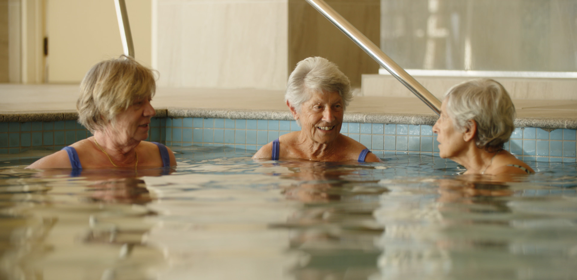 Swimming in the pool Waiheke Retirement Village