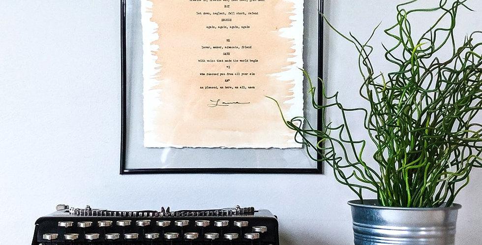 Typeset Poetry: Mantra