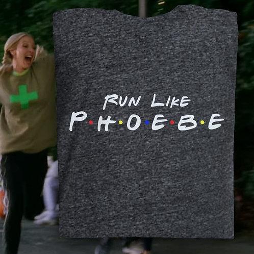 Run Like Phoebe- Womens Grey Baby Tee