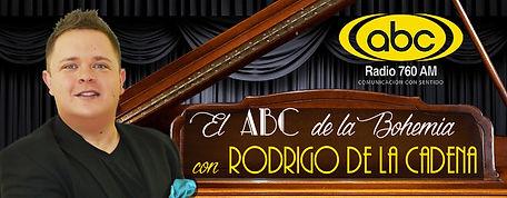 El ABC de la Bohemia con Rodrigo de la Cadena. Bolero y música romántica del mundo.