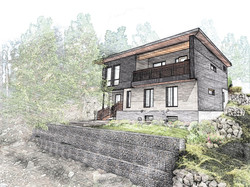 Ped Build - South Elevation 2