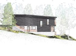 Ped Build - West Elevation