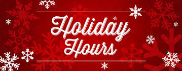 FVSRA Holiday Office Hours