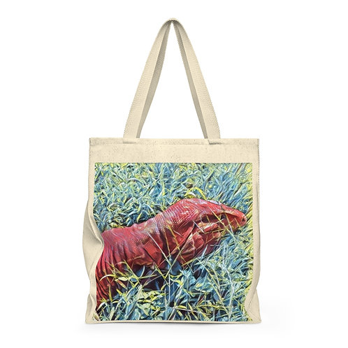 Red Tegu Lizard Shoulder Tote Bag For Sale, LARGE Tote, Tegu, Lizard, Tegu World