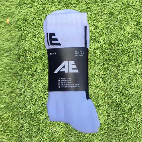 White AthElite Comfort Socks (3 Pack)