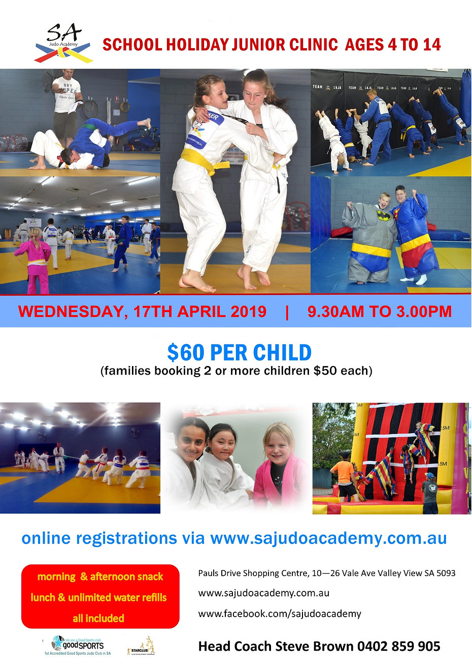 School Holiday Clinic Wed 17th April 201
