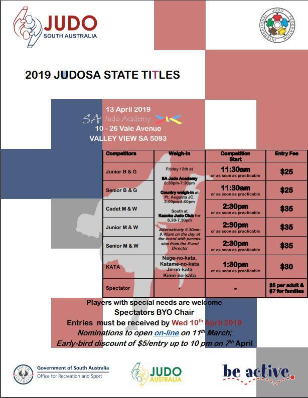Judo JudoSA State Titles SA Judo Academy Martial Arts BJJ
