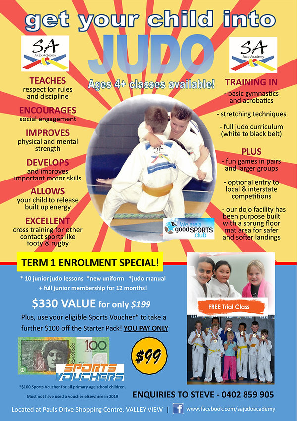 SA Judo Academy - Junior Package Deal Ja