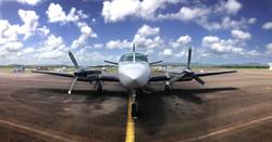 Cessna 404 près à décoller