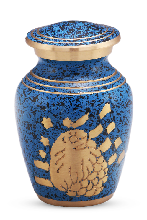 American Eagle Blue Keepsake Urn