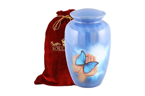 Ultramarine Blue Butterfly Urn