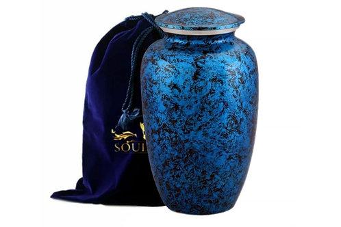 Forest Blue Adult Urn With Plush Velvet Bag