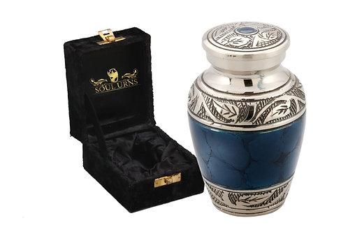 Mystic Blue Keepsake Urn