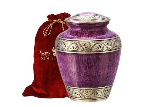 Marble Purple Finish Cremation Urn