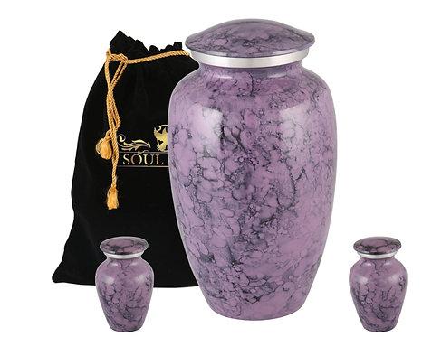 Violet Marble Finish Cremation Urn