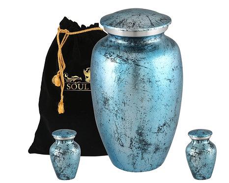 Shimmer Blue Cremation Urn