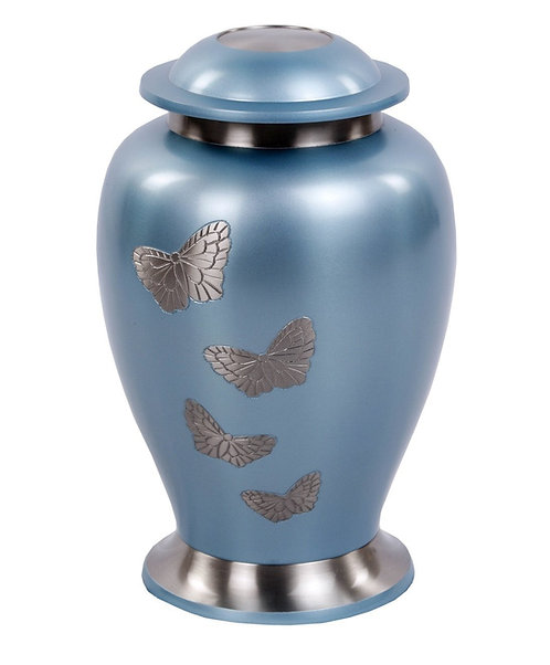 Butterfly Gathering Funeral Urn