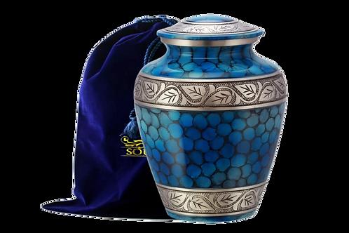 Cloud Blue Cremation Urn