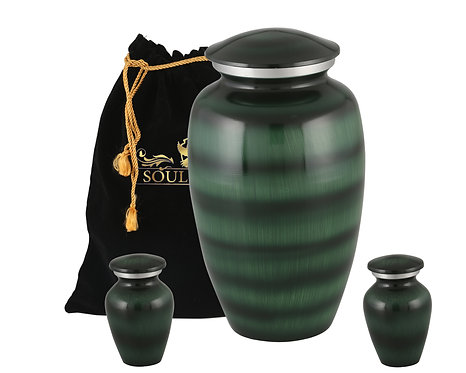 Forest Green Cremation Urn