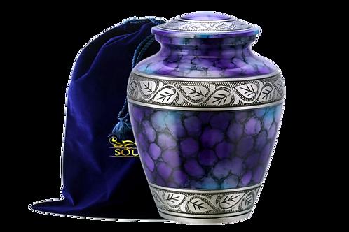 Rainbow Purple Finish Cremation Urn