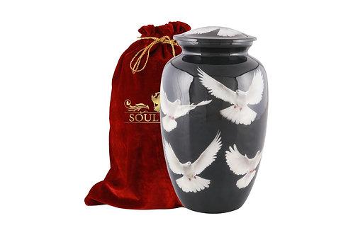 Dove On Black Adult Urn