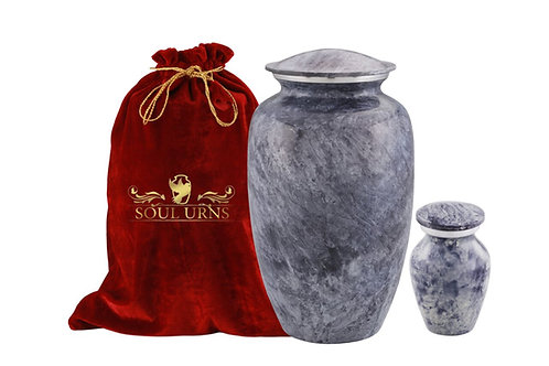 Grey Marble Funeral Urn