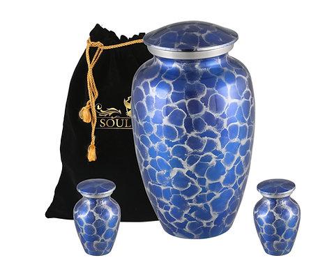Blue Bubble Cremation Urn