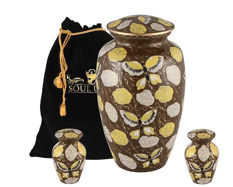 Golden Papellon Cremation Urn