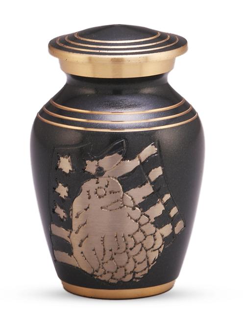 American Eagle Black Keepsake Urn