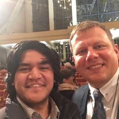 With Ēriks Ešenvalds. Choral Connect 2017