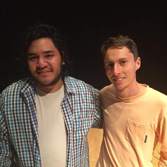 With NZ young composer, Reuben Jelleyman. 22/03/2019