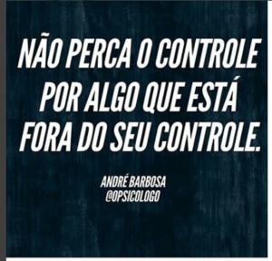 Não perca o controle
