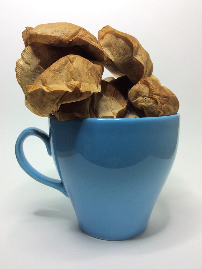 Blue Cup Teabag Stack