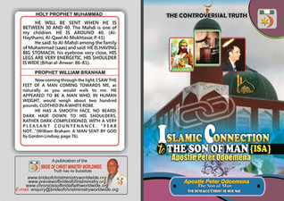 ISLAMIC CONNECTION TO THE SON OF MAN ( ISA)