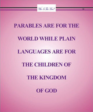 PARABLES ARE FOR THE WORLD