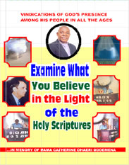 EXAMINE WHAT YOU