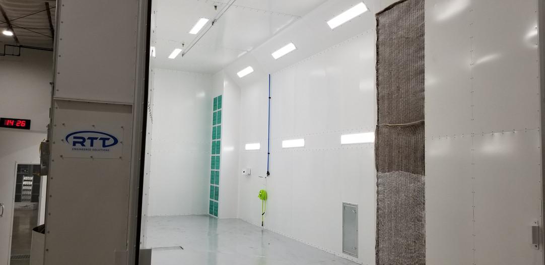 Col-Met LE Spray Booth- Front door view.